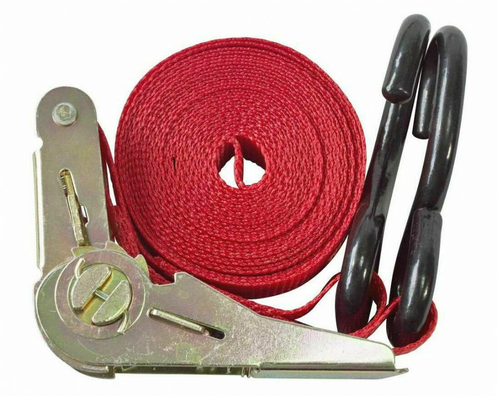 "Am-Tech RATCHET TIE DOWN 25MM(1"") X 4.5M(15FT) Ratchet Action Securing Strap New"